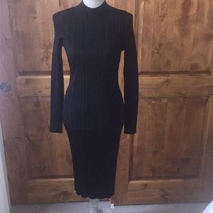 H & M NWT Slinky Black Dress